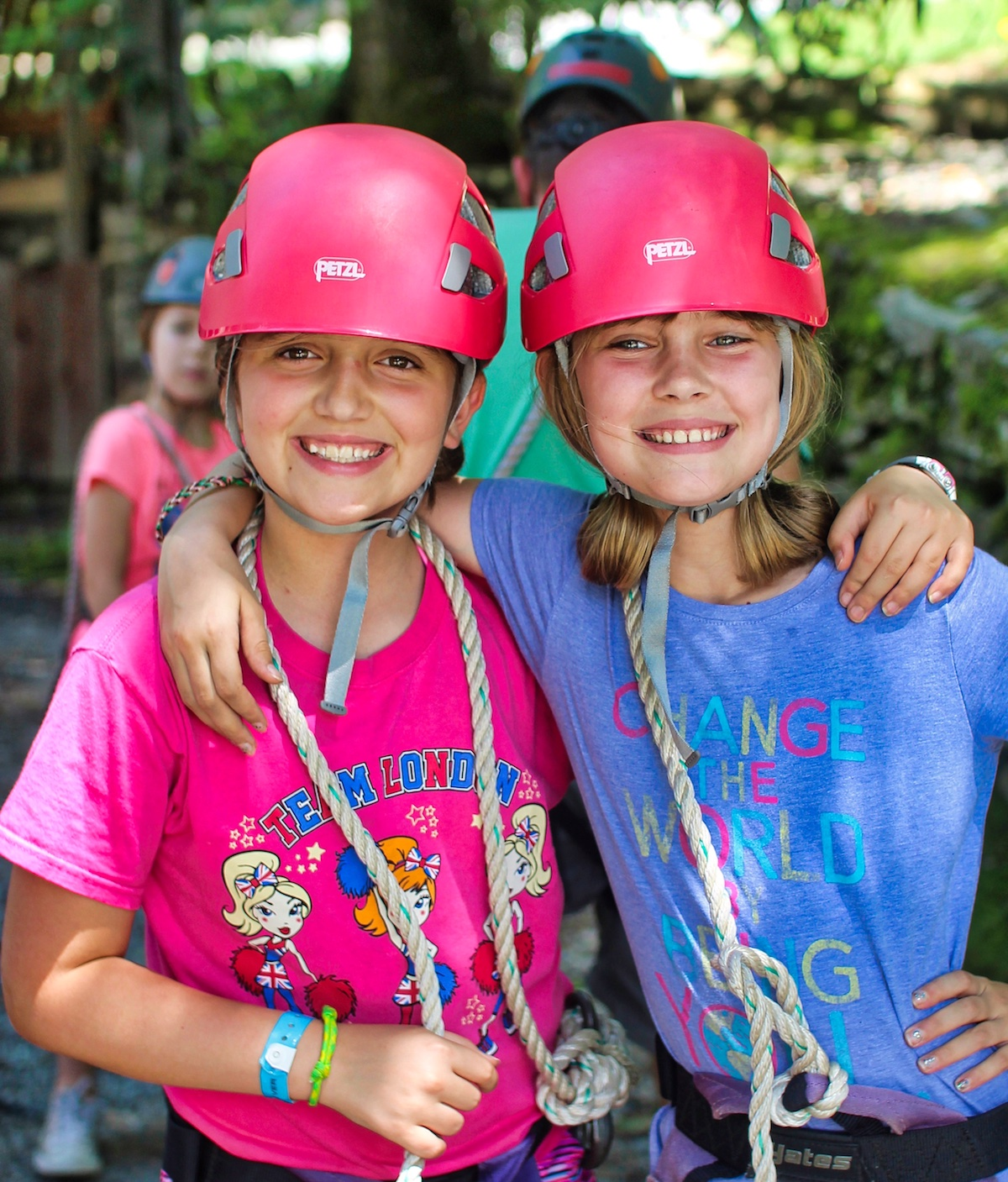two camp girls ready for an adventure