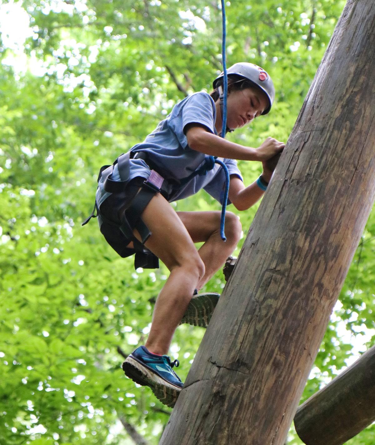 alpine tower girl climber
