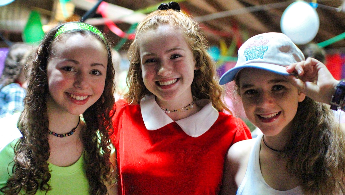 campers dressed to perform at banquet