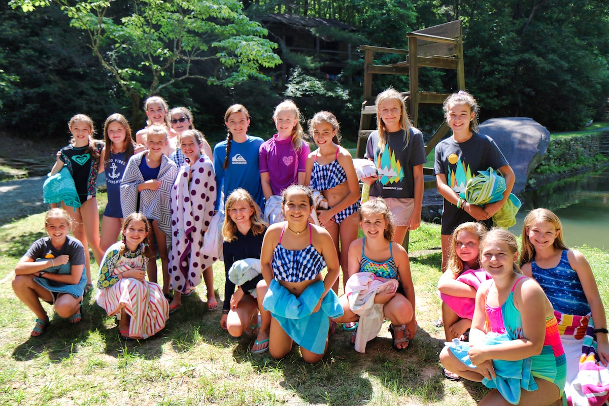 campers first day at rockbrook