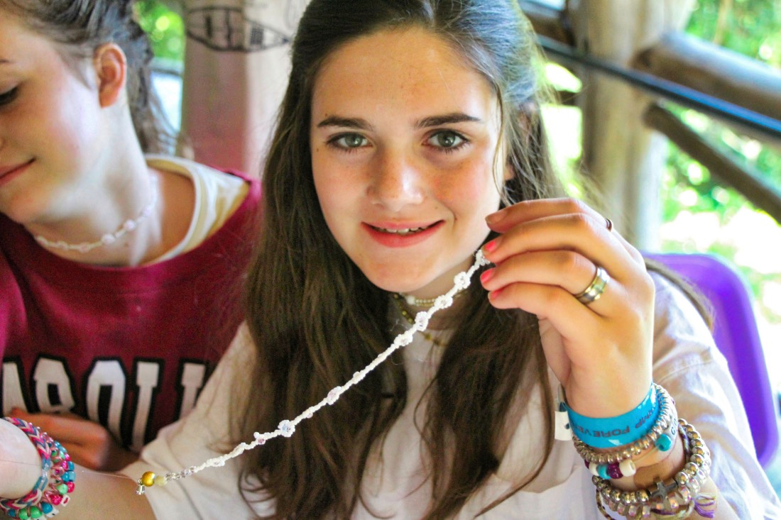 camp necklace girl