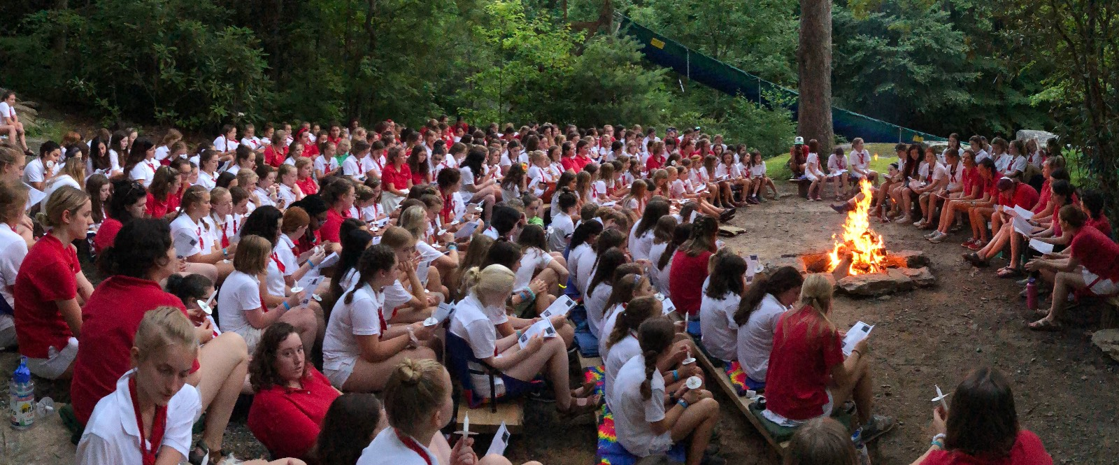 rockbrook camp closing campfire