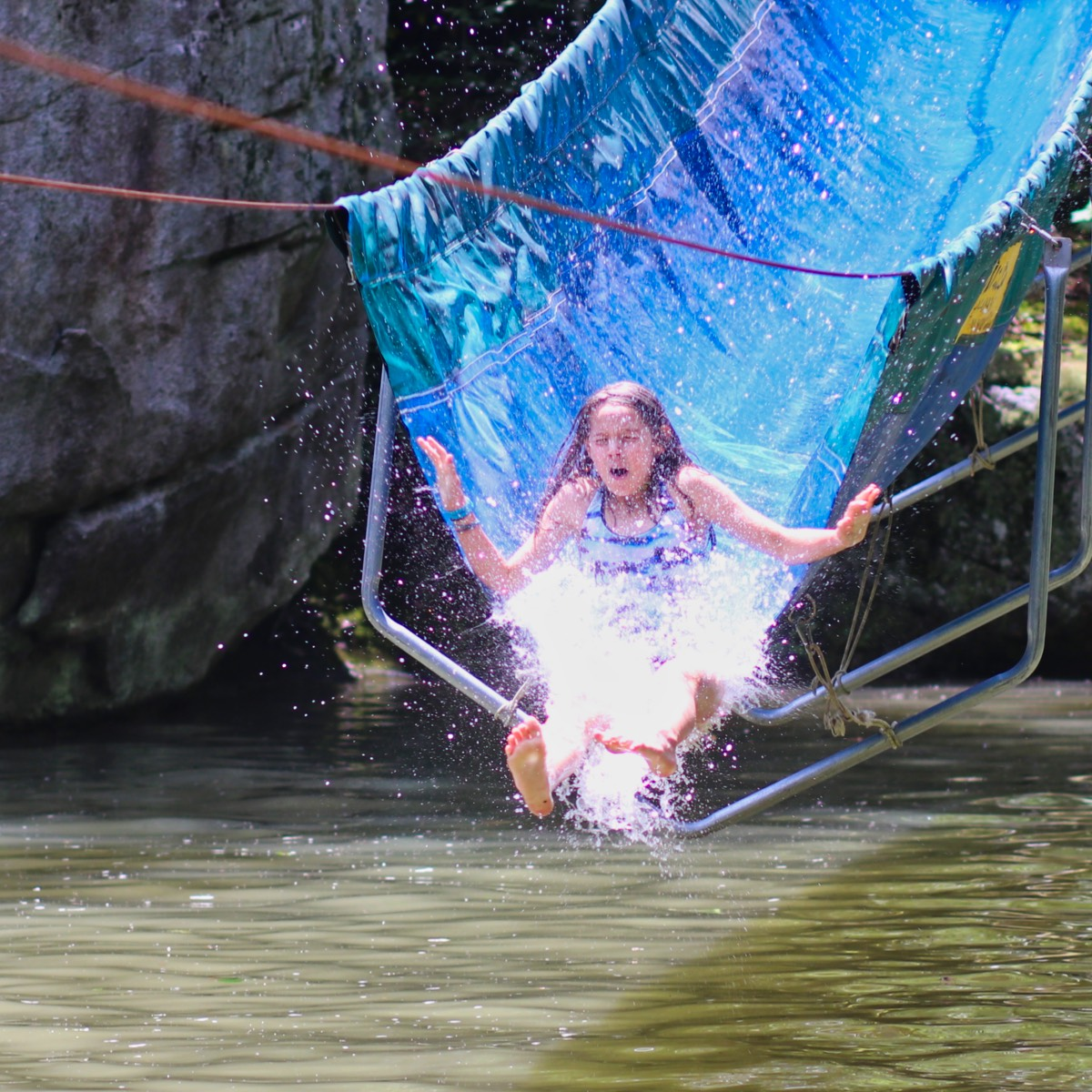 water slide plunge