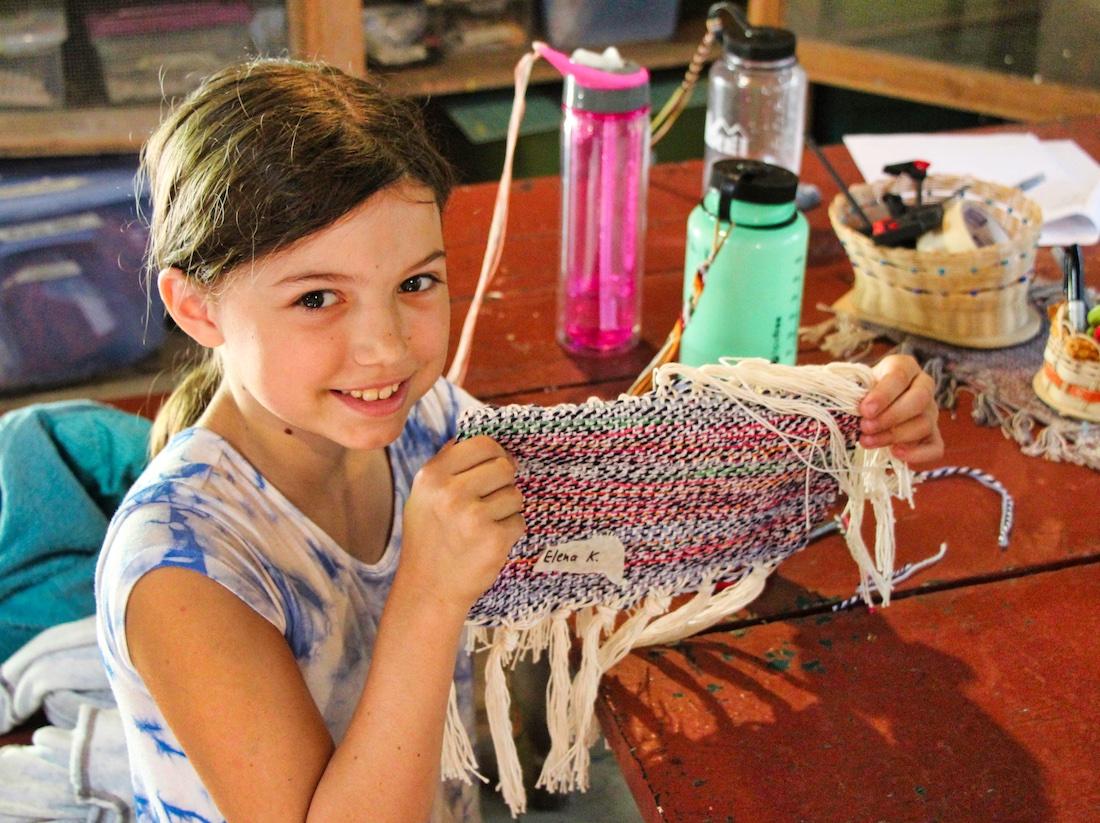 weaving camper kid
