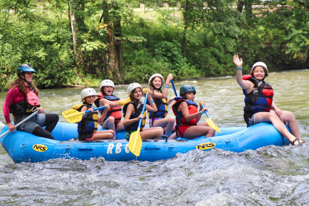 camp rafting kids