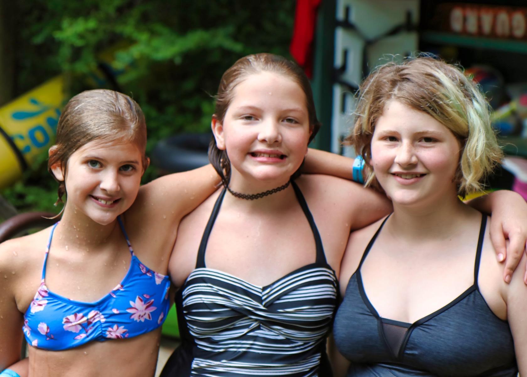 camp swimming buddies