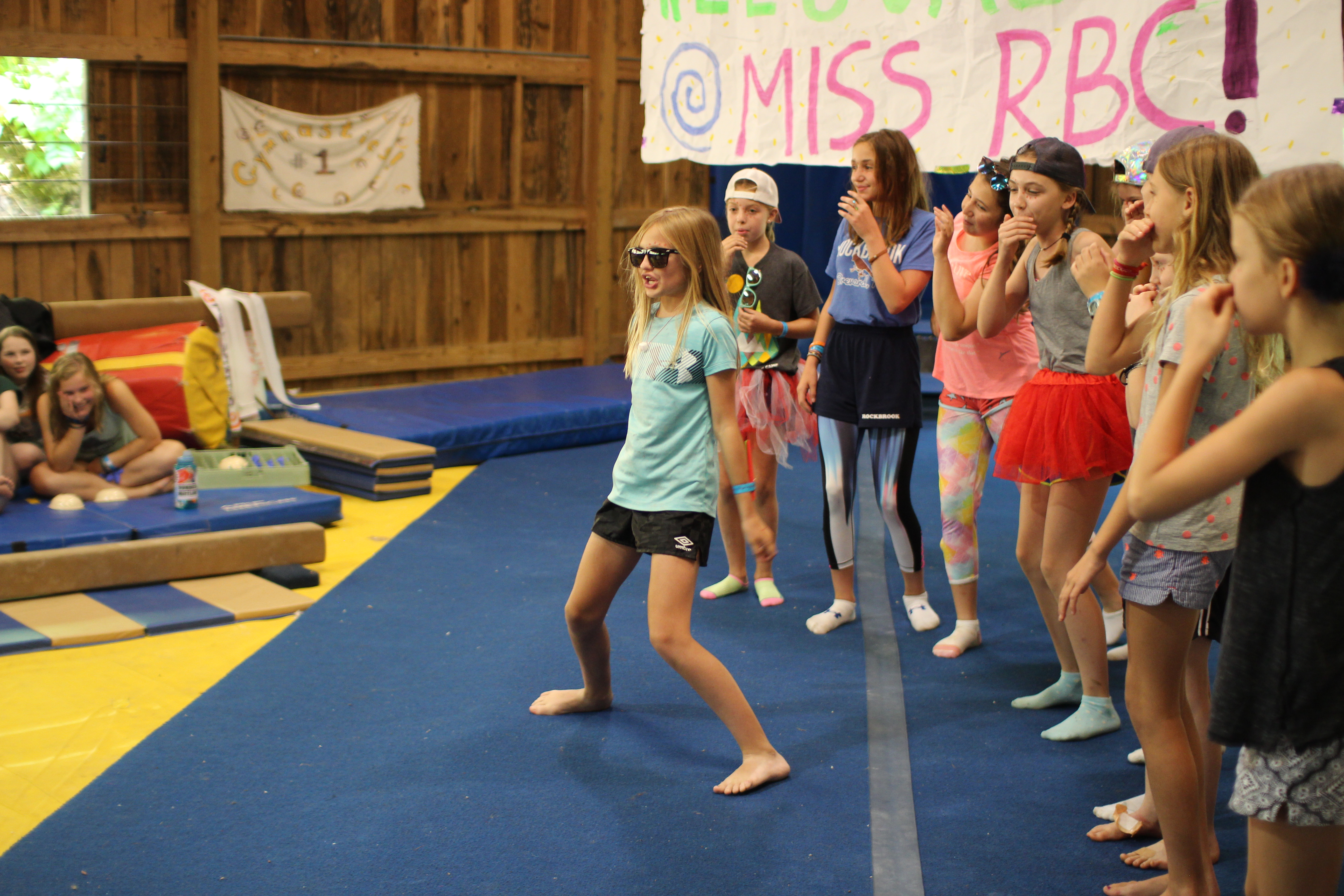 skit performance of girls cooperating