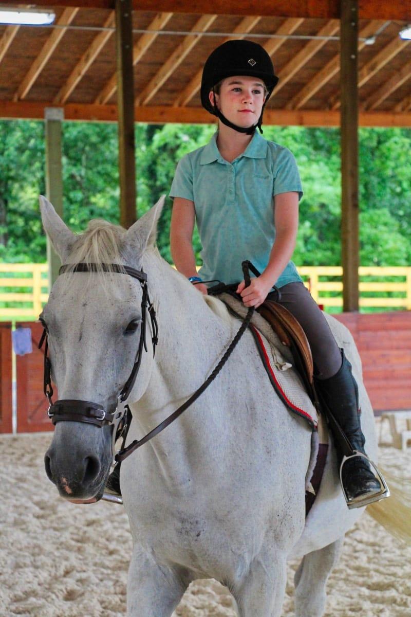camp horse rider