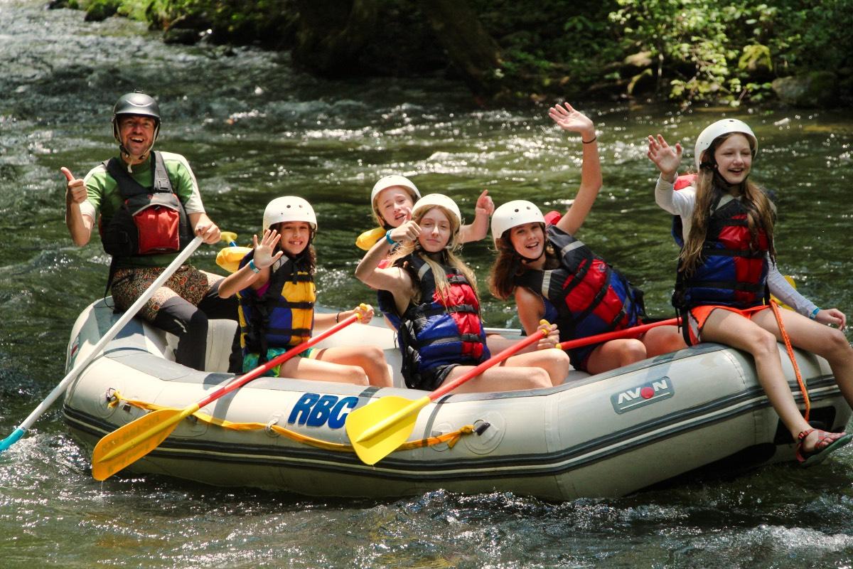 girls rafting crew