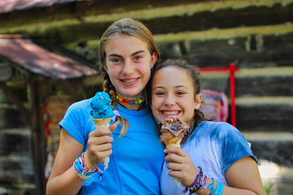 ice cream camp friends
