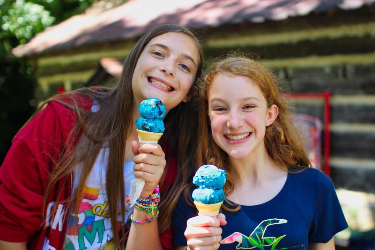 ice cream happiness girls