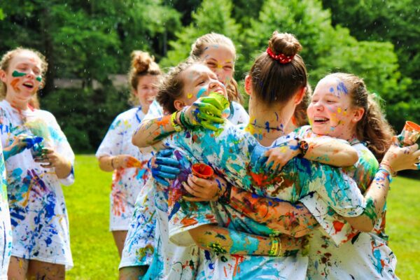 color paint war on t-shirts