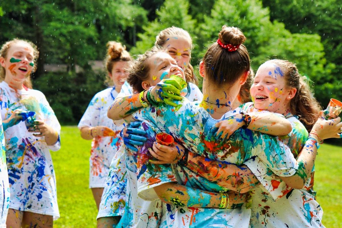 color paint war on t-shirts