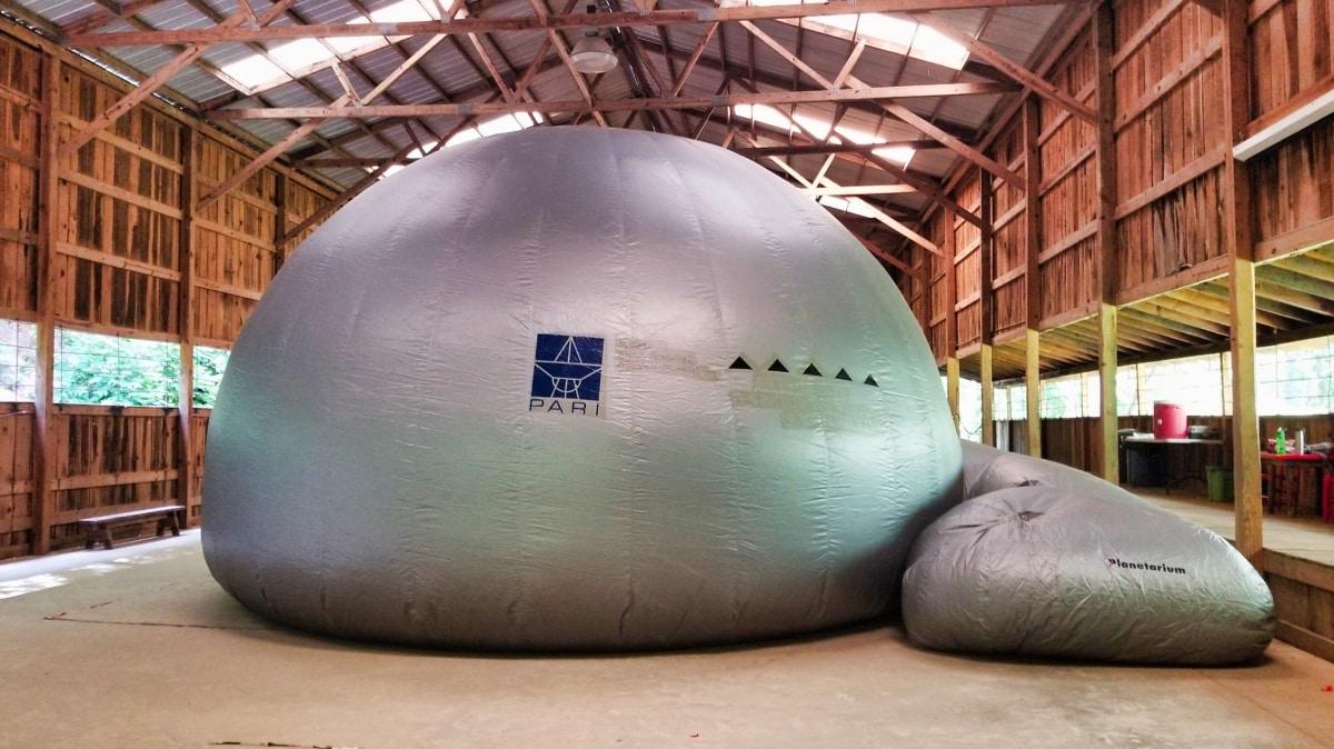 inflated planetarium