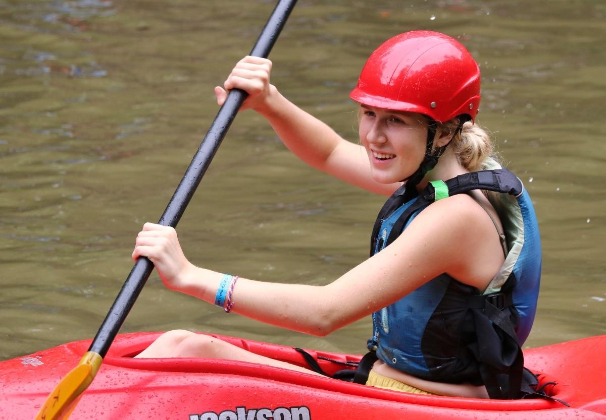 kayaking camp kid
