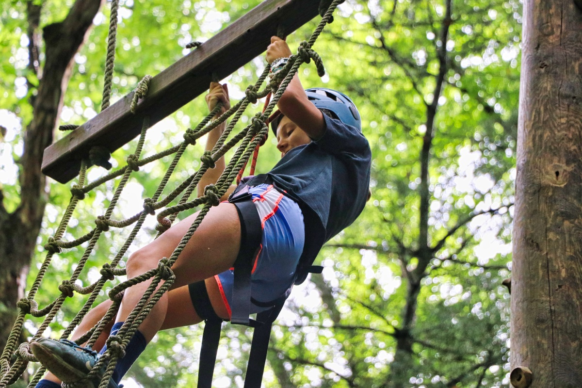 ropes course climber