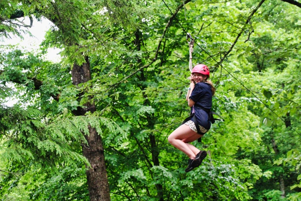 zip line through the trees