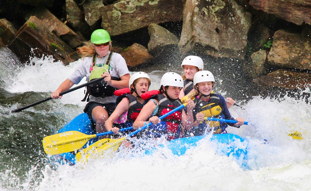 whitewater raft group