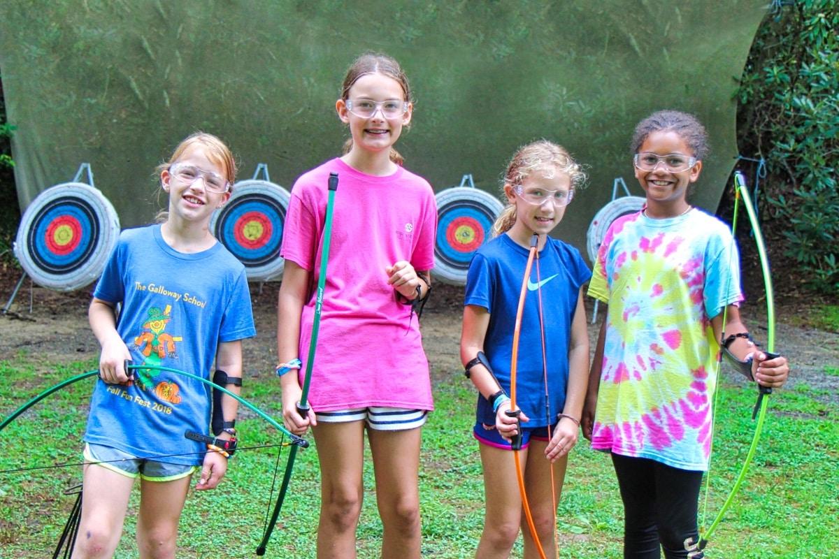 archery camper girls