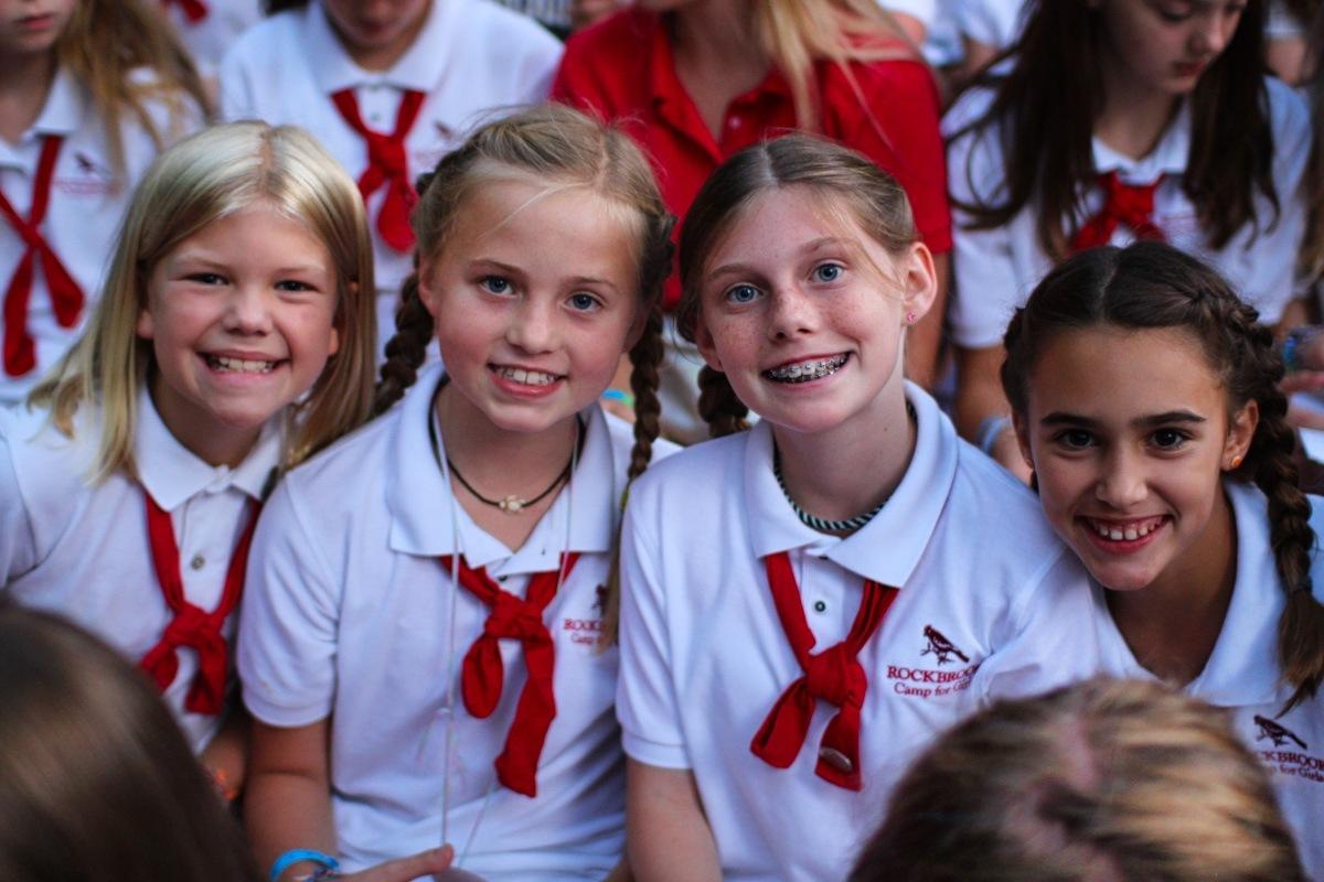 camp girls with braids