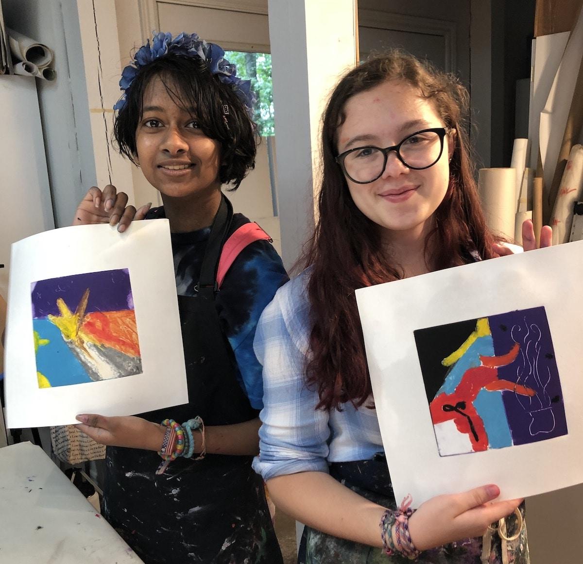 Print Making kids