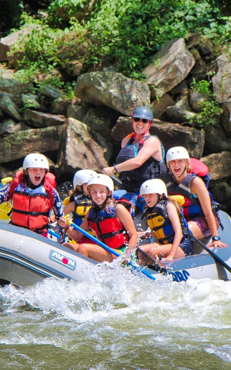 rafting camp children