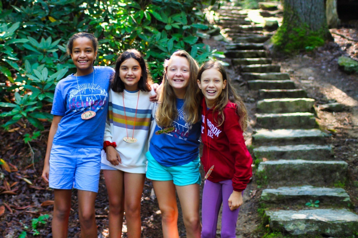 rockbrook camp girls having fun