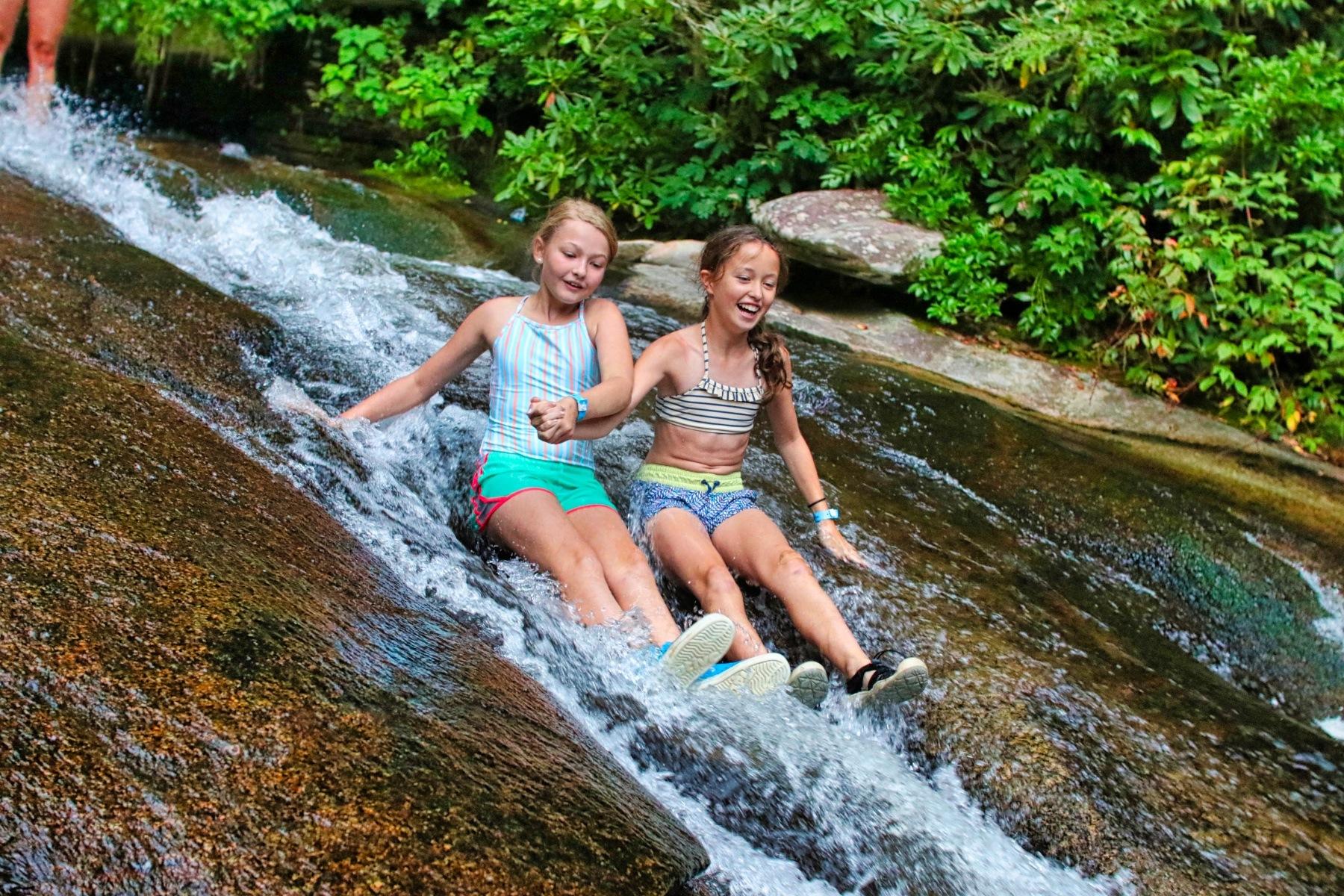 sliding rock children