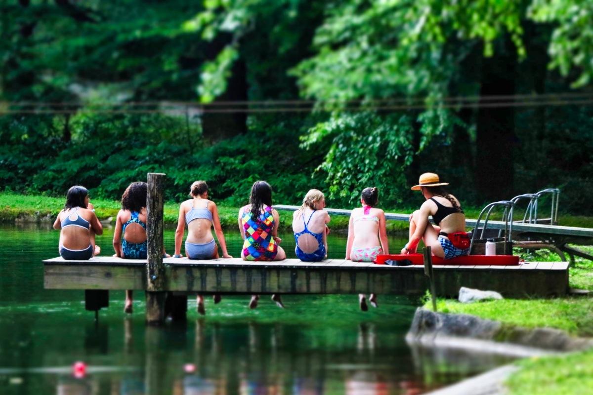 dock at camp lake