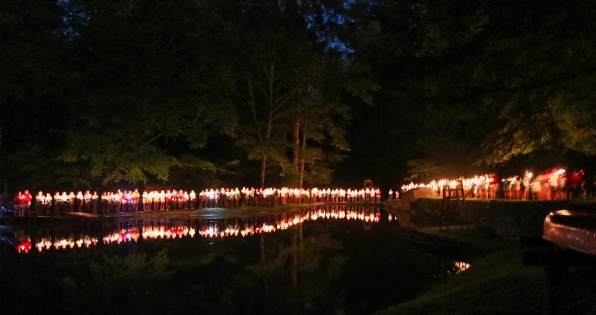 Candle lake procession