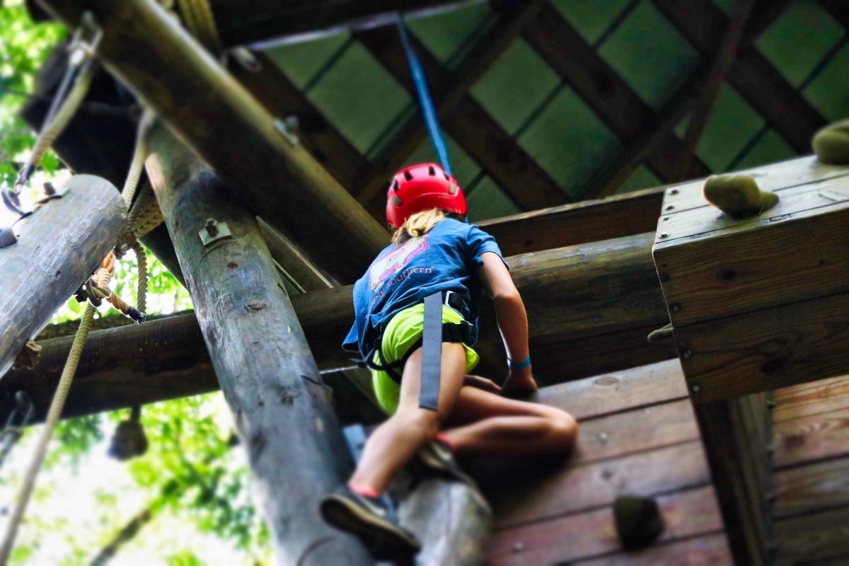 challenge tower climbing kid
