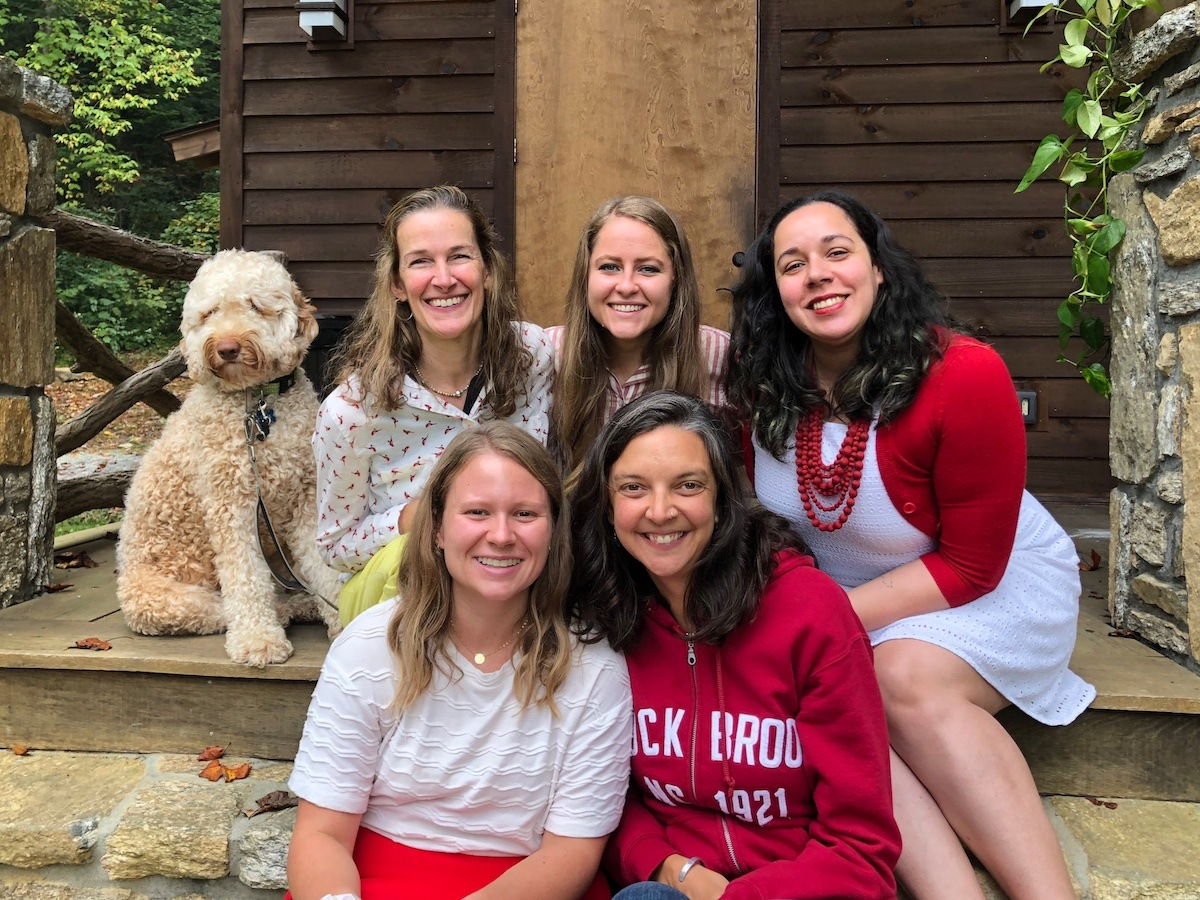 Rockbrook Camp full year directors plus felix the dog