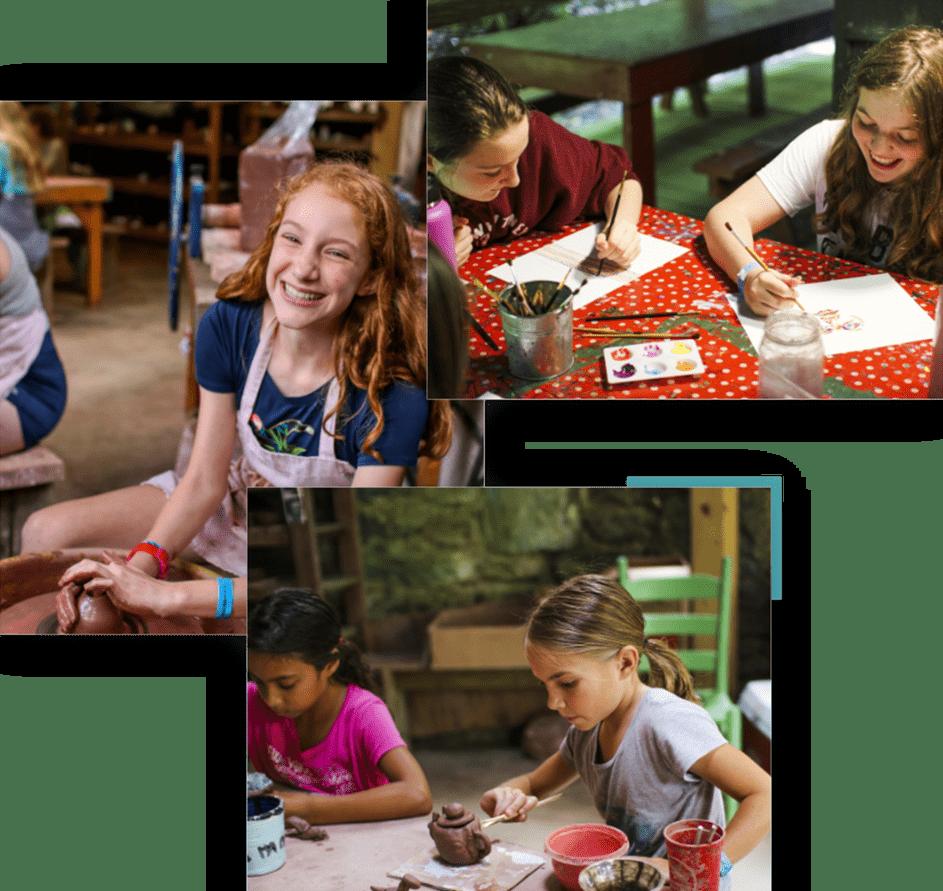 creative arts and crafts at camp