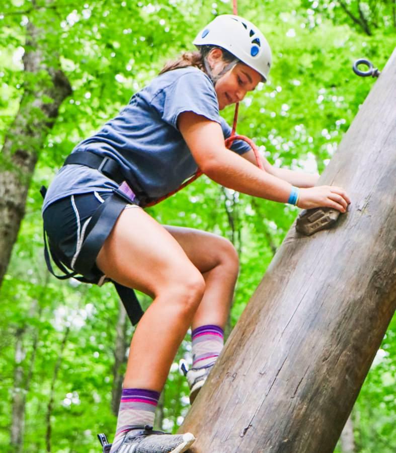 climbing camp girl