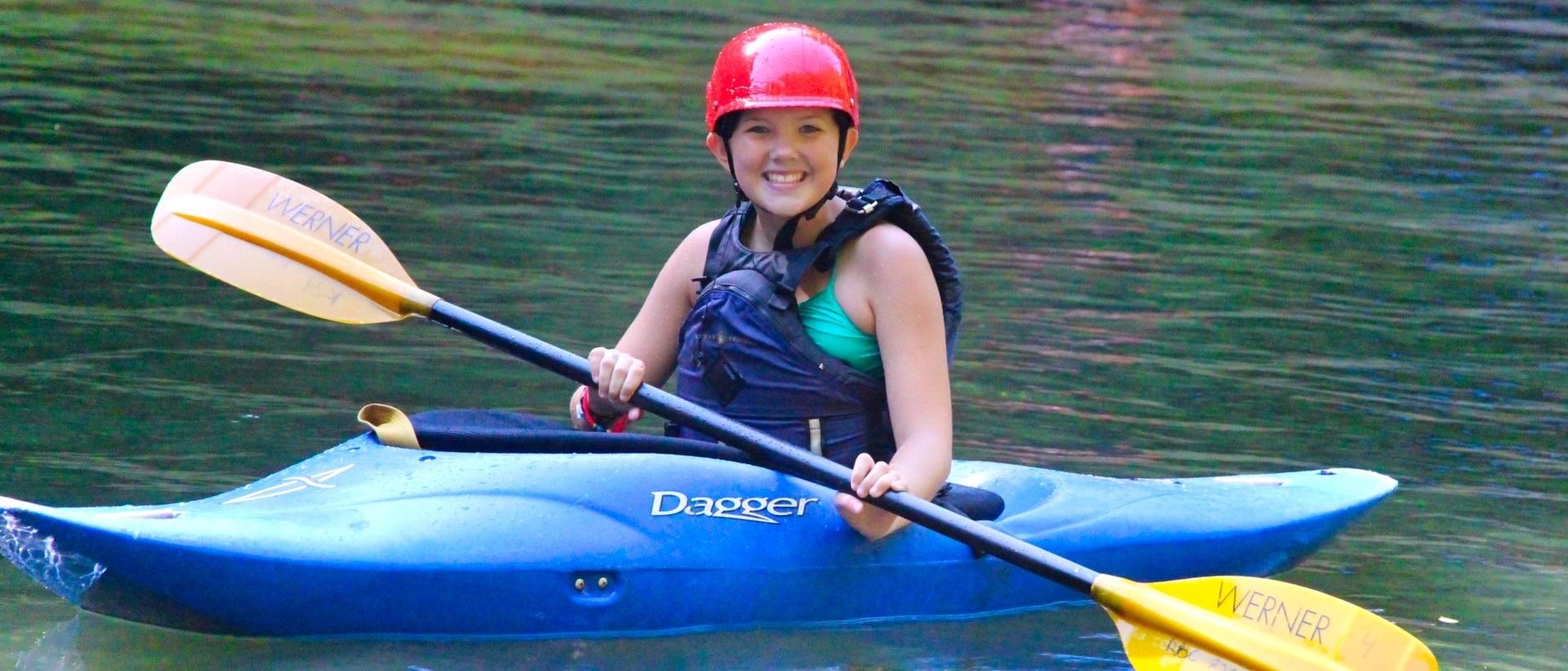 kayaking trip child