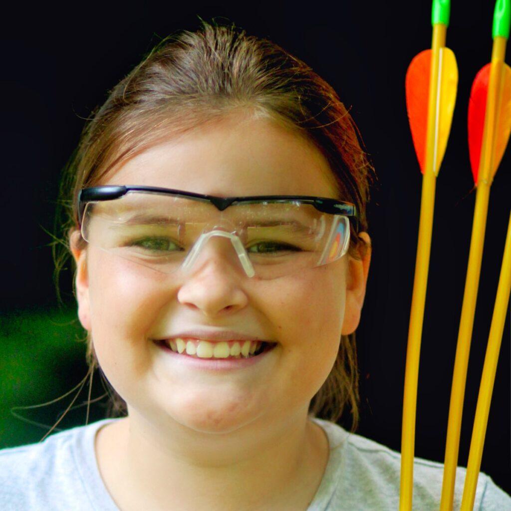 archery smiling girl