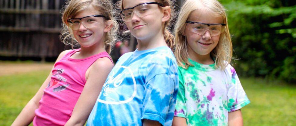 confident summer camp girls