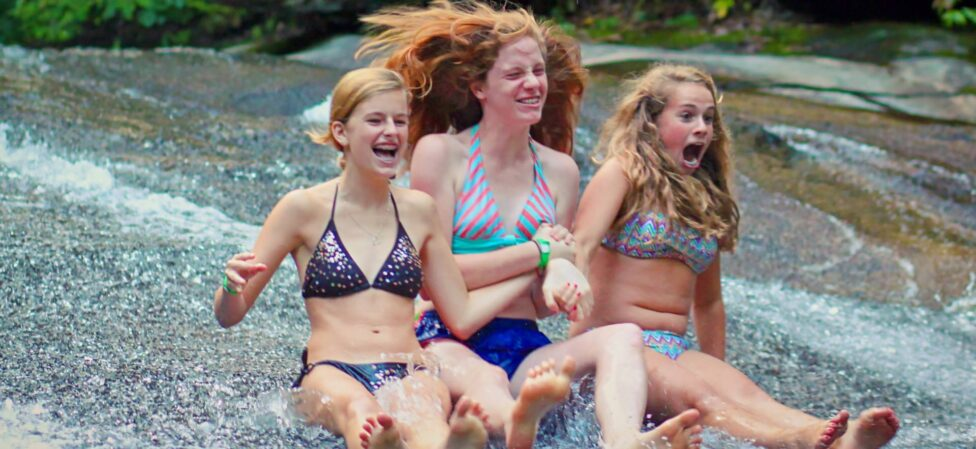 super fun camp water slide
