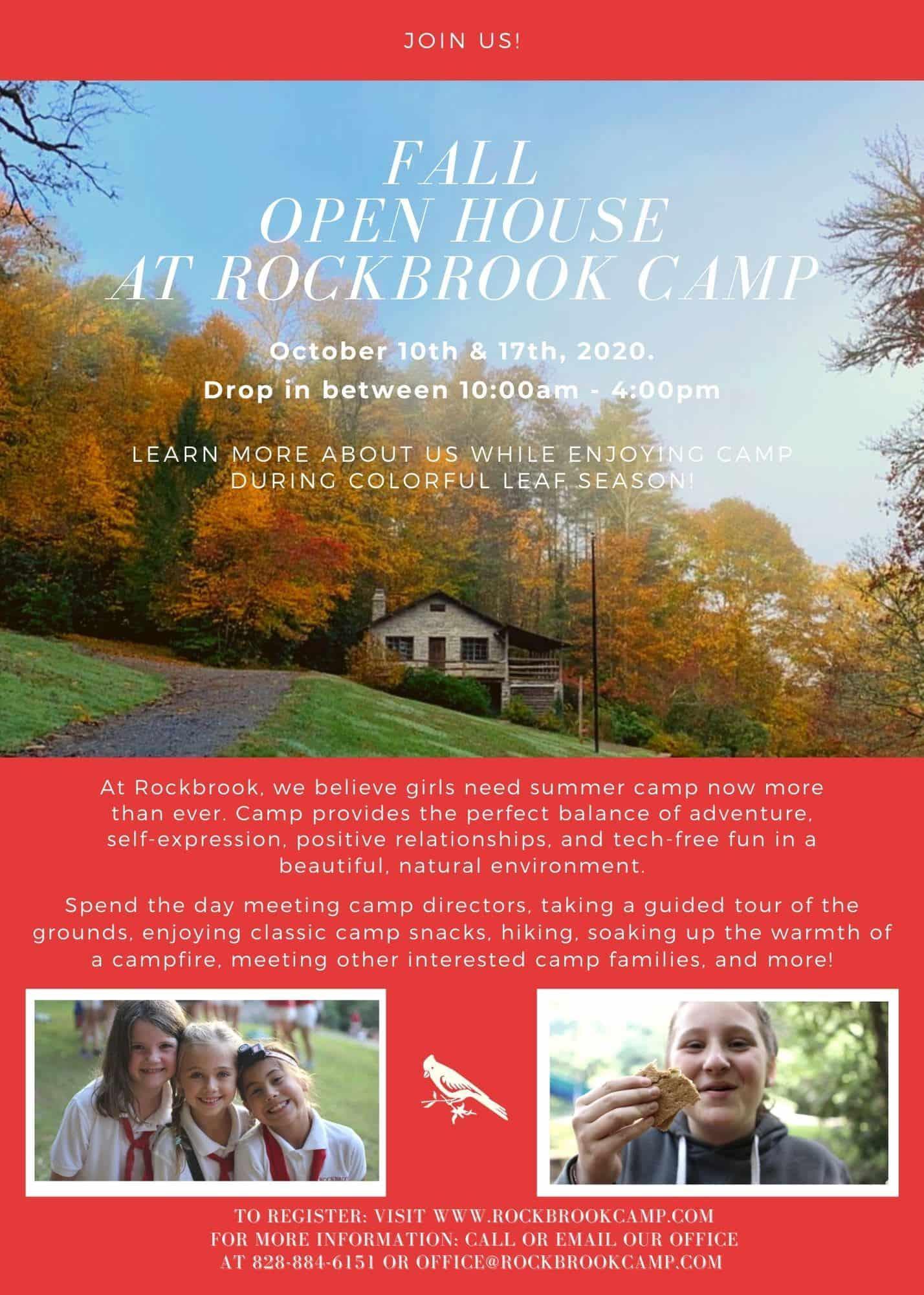 camp open house invitation
