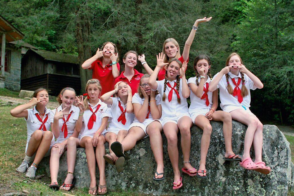 goofy camp girls in uniform